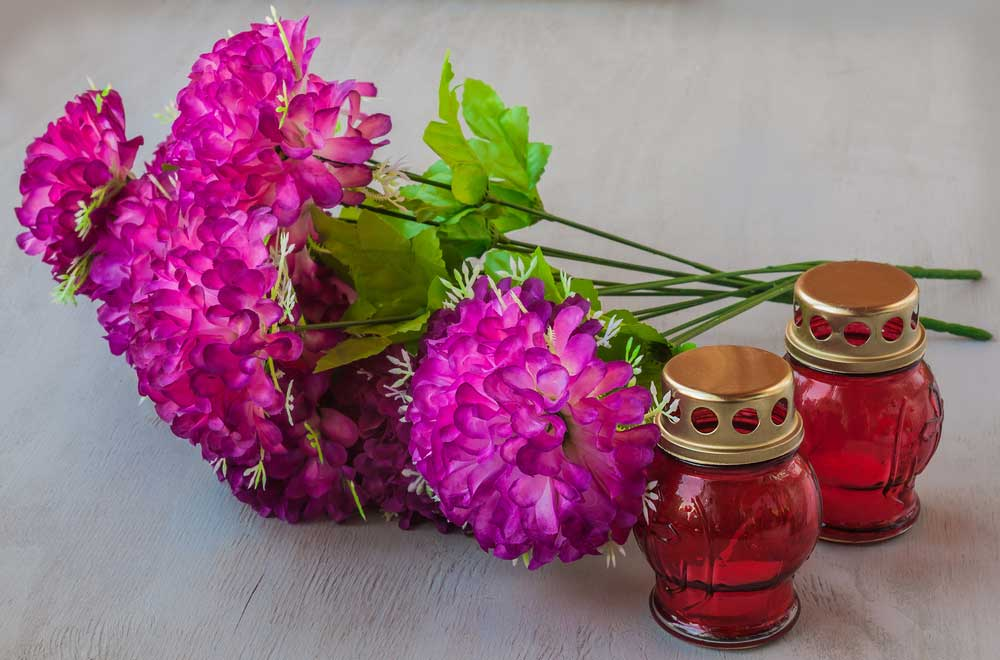 in memory of flowers