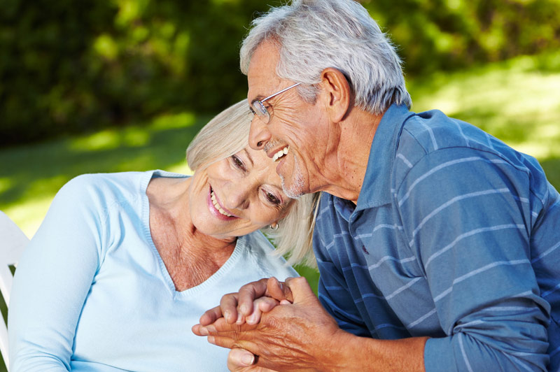 Old Husband & Wife Hugging