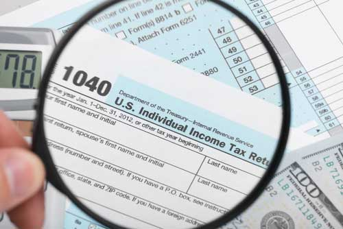 1040 Income Tax Form Image