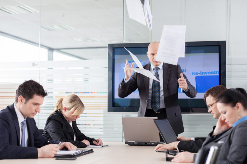 CEO Throwing Papers Up in Air