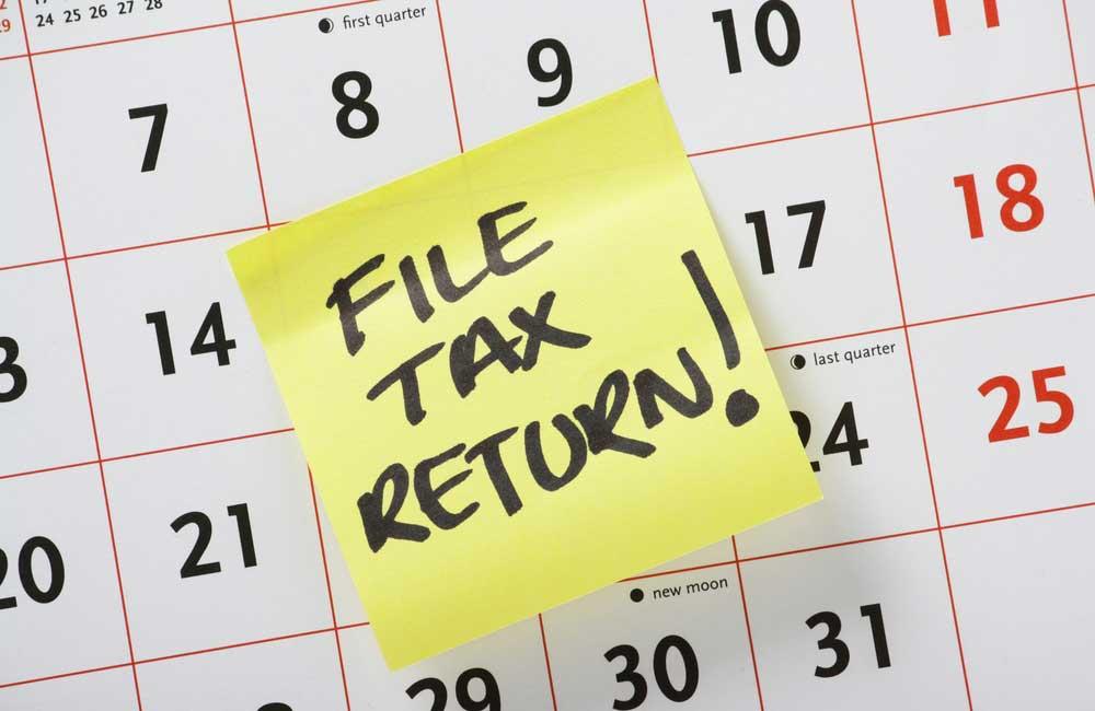 Tax Calendar Note