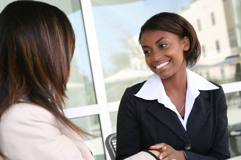 Woman Meeting Accounting Professional